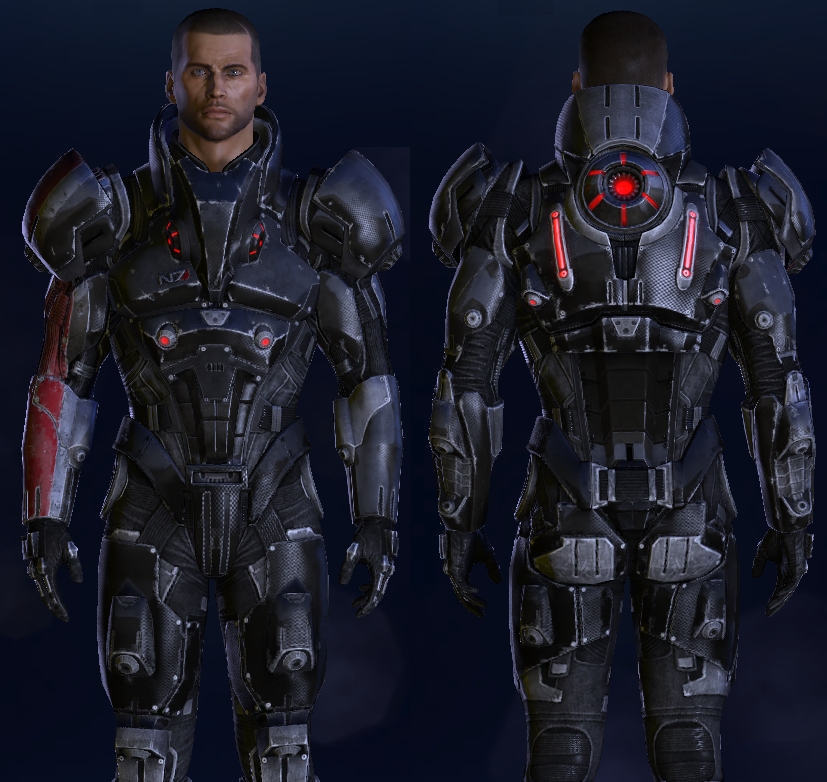 Les armures mass effect 3 for Mass effect 3 n7 armor template