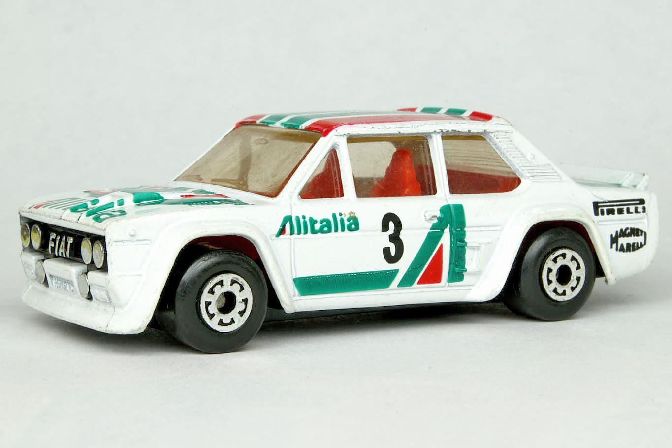 Red 9D Fiat Abarth 1982