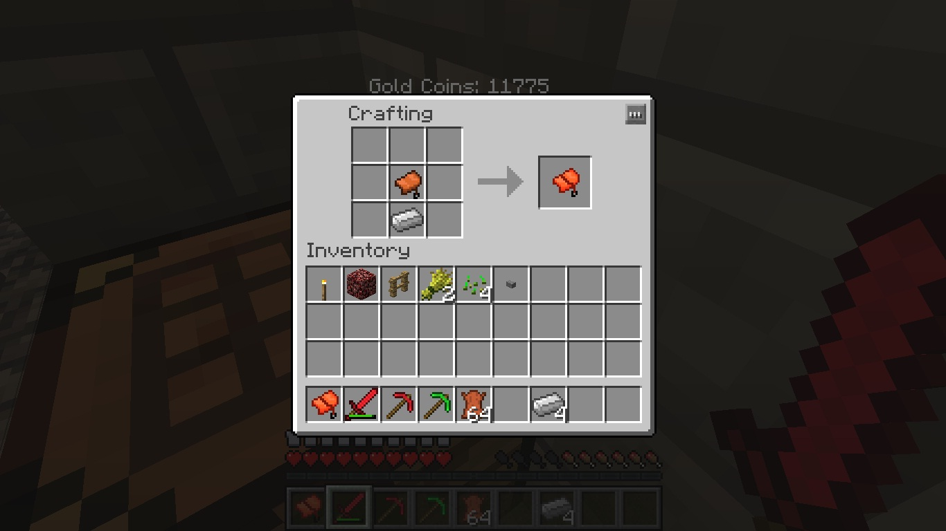 Minecraft Craft Saddle