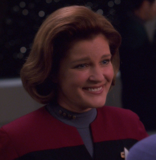 "Janeway hologram, 2378 ... called ""Future Sex Offender Regisrant."" The model's expression doesn't ..."