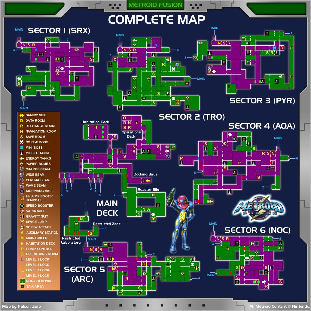 Metroid Fusion Metroidfusion_map