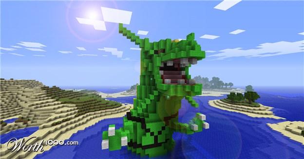 Image - Rayquaza in Minecraft.jpg - Minecraft Wiki  Image - Rayquaz...