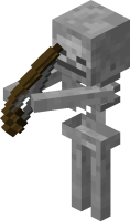 Първия ден в Minecraft Skeleton_minecraft
