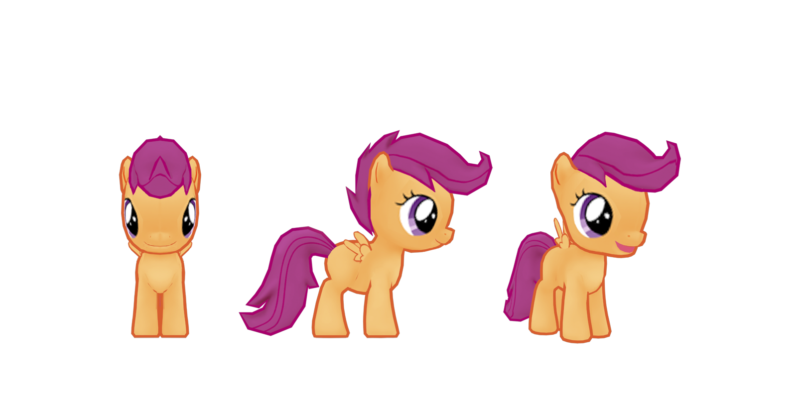 Image - My little pony mobile game Scootaloo Model.png - My Little