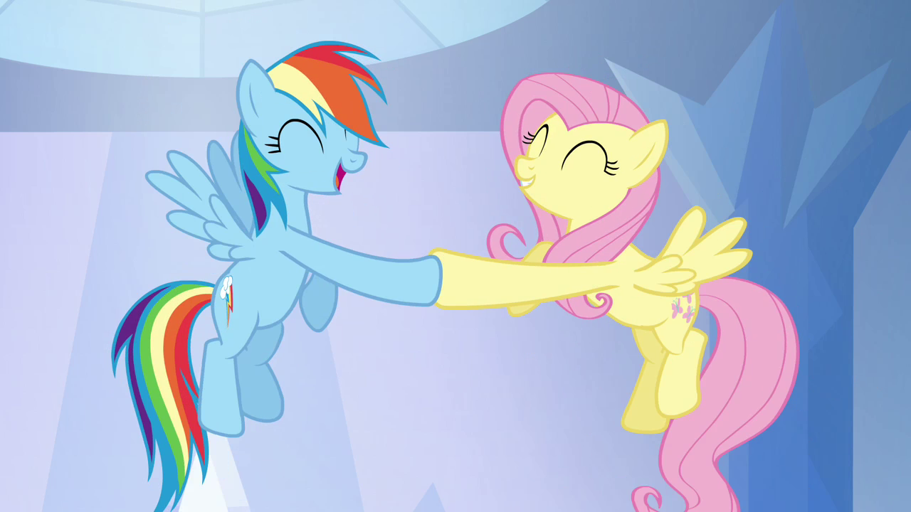 Rainbow_Dash_and_Fluttershy_hoof-bump_S0