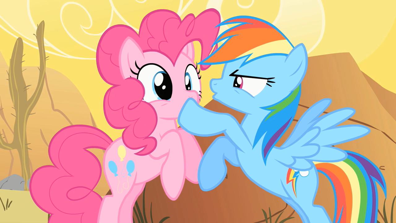 Image - Rainbow Dash Shushing Pinkie Pie 2 S1E21.png - My ...