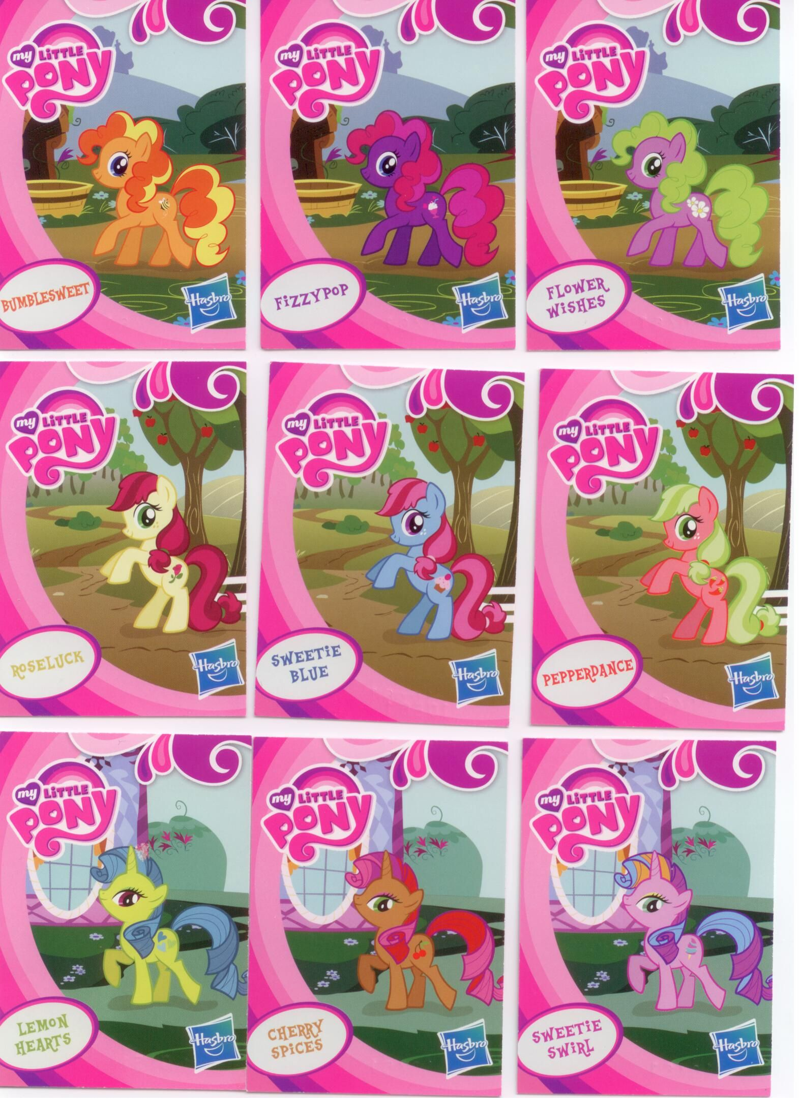 EU wave 1 mystery packs scans - Bumblesweet  Fizzypop  Flower Wishes    Flower Wishes Mlp