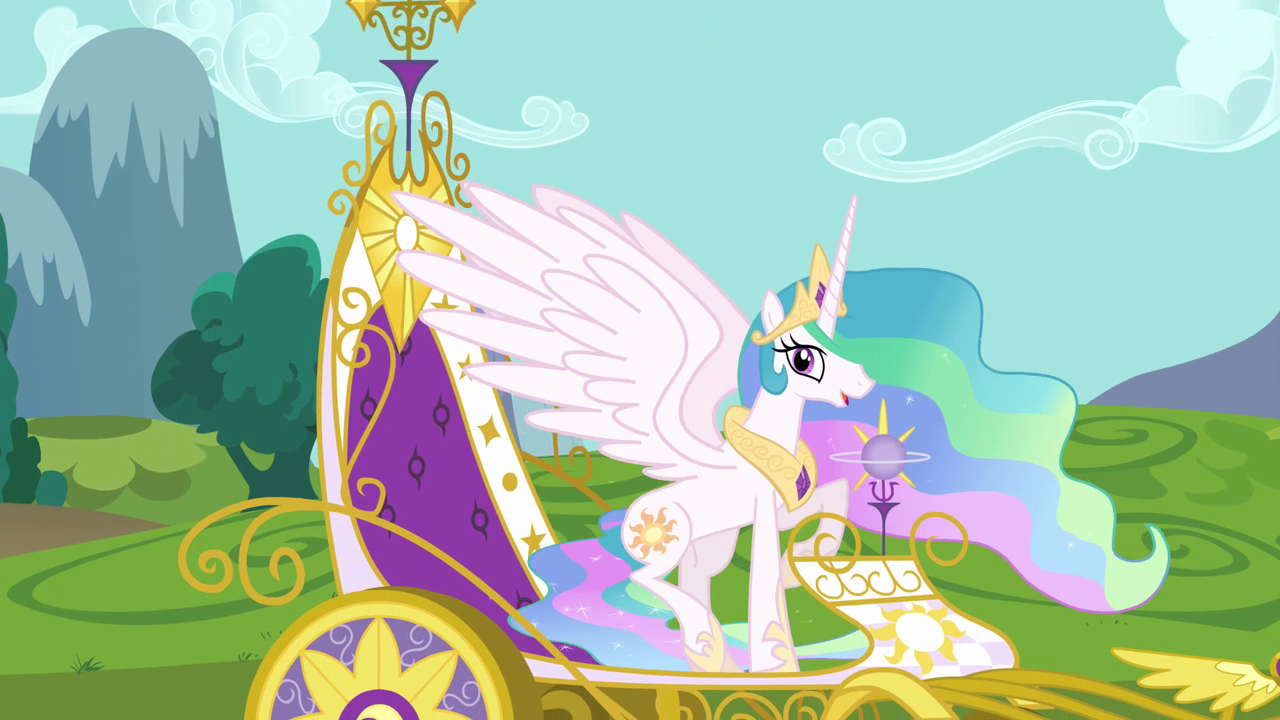 Image Princess Celestia Royal Carriage Little