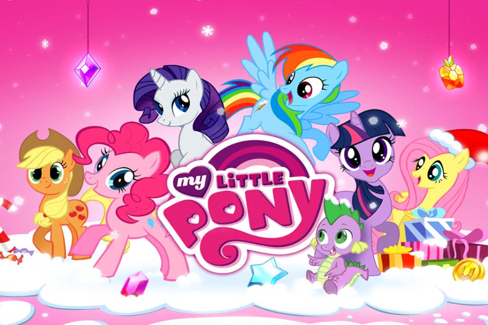 Image My Little Pony mobile game Christmas theme splash