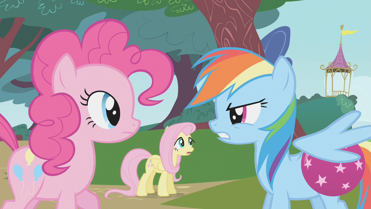 Image - Rainbow Dash blames Pinkie Pie for making her drop ...