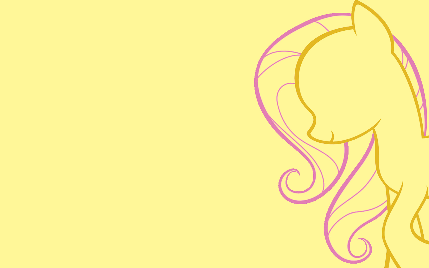 Image - Fluttershy minimalist wallpaper.jpg - My Little Pony Fan ...