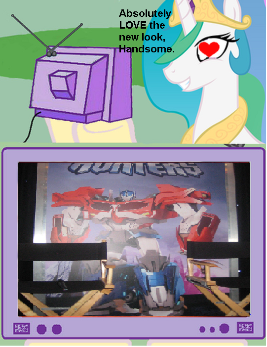 Celestia tv meme transformers optimus prime transformers prime beast