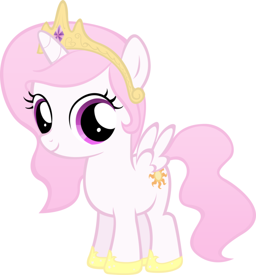 Image celestia filly except pink by - Princesse poney ...