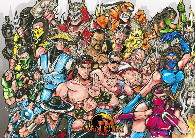 Image - Mortal Kombat 2 characters by Sw Art jpg - Mortal Kombat    Mortal Kombat Characters