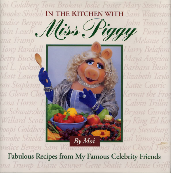 JF in the kitchen with Miss Piggy Book.kitchenpiggy
