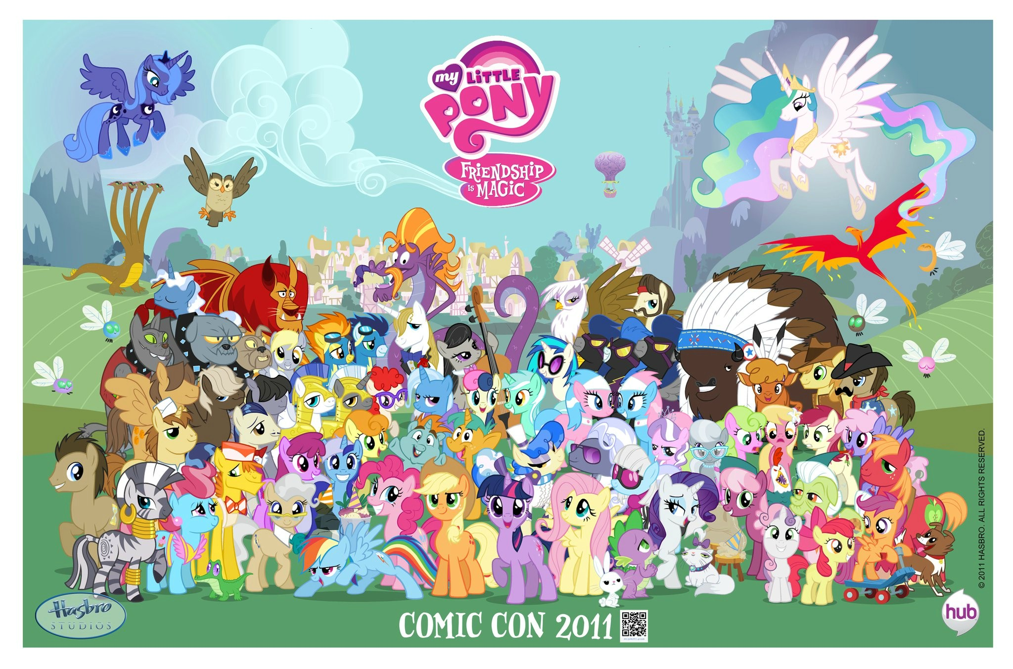 My Seks Games http://mylittlebrony.wikia.com/wiki/File:My_Little_Pony_Friendship_is_Magic_Comic_Con_2011_poster.jpg