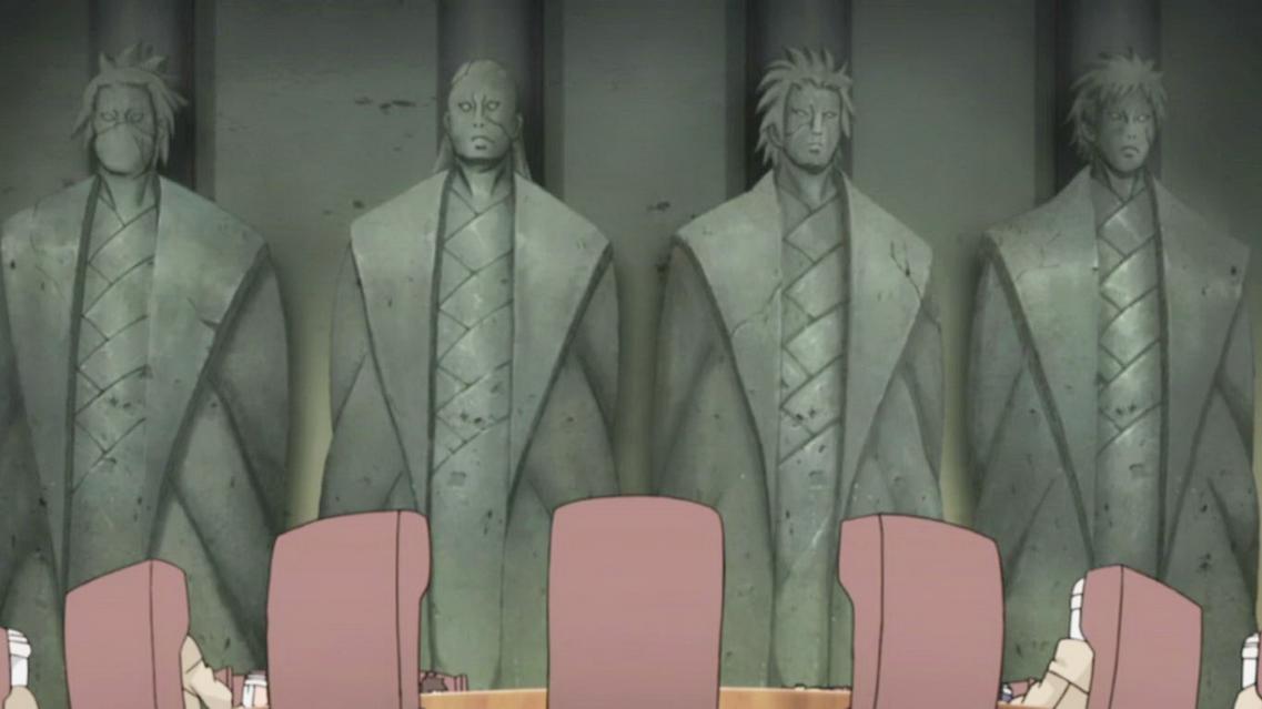 Memorial dos Kages Estatuas_Kazekage