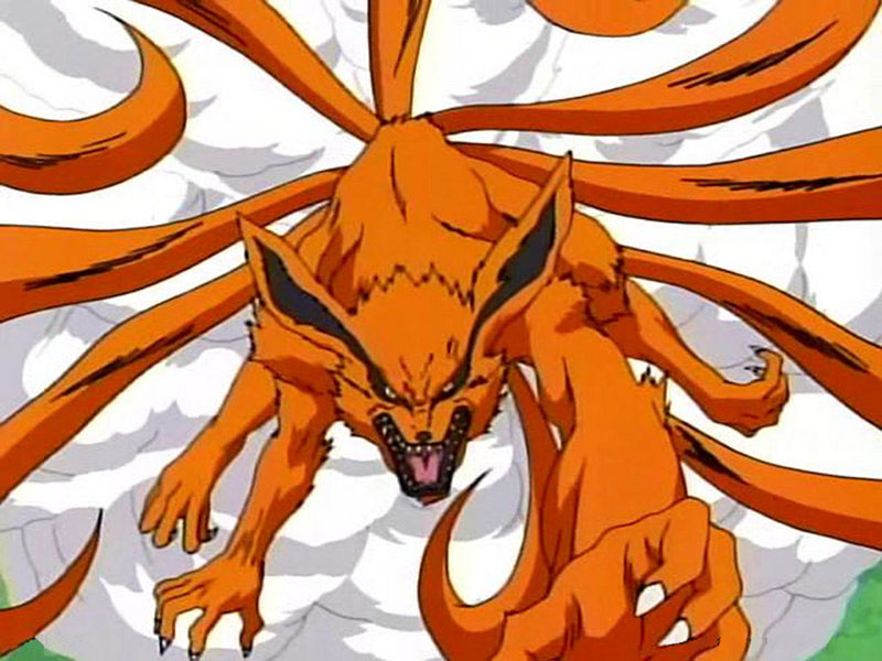 Naruto Nine Tailed Fox Forms http://narutoom.wikia.com/wiki/File:Nine-tailed-demon-fox-kyuubi-974168.jpg
