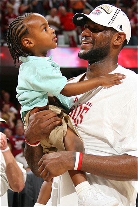 lebron james hair. LeBron James Jr.