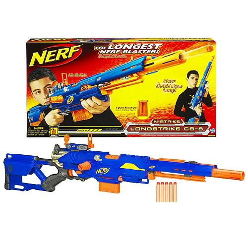 Nerf N Strike Longstrike Cs 6 Blaster