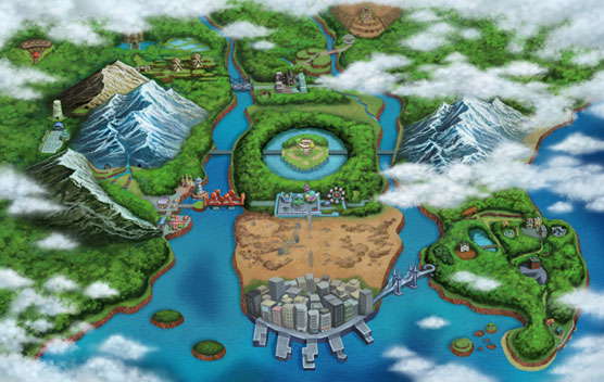 pokemon black map. Map of Unova.