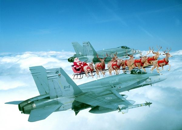Canadian NORAD Region Jet Fighter Escort for Santa Claus and the NORAD ...