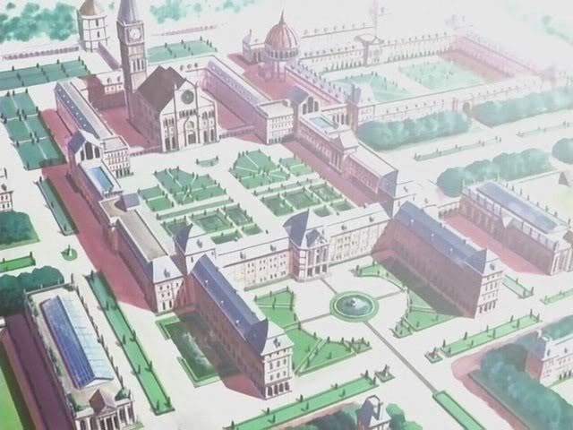 St Katherine Academia (Sentokyasarin'akademia) OuranAcademyCampusAerialView