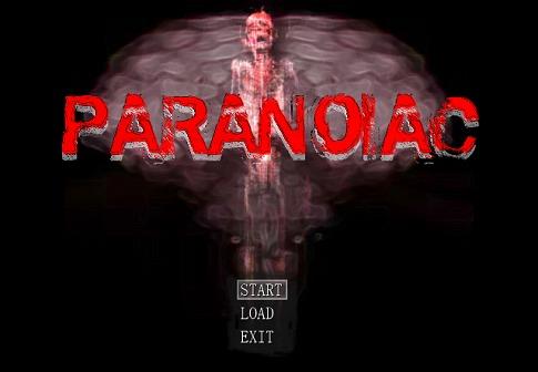Paranoiac title screen