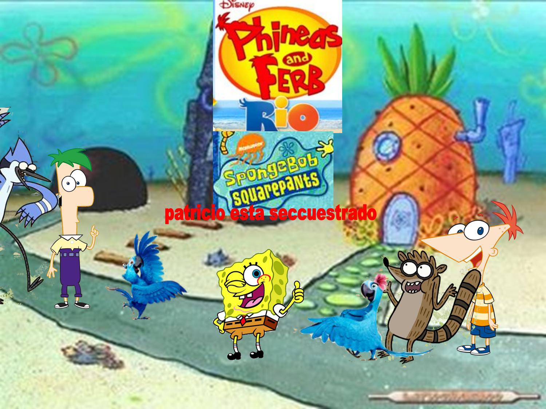Hora de aventura vs bob esponja