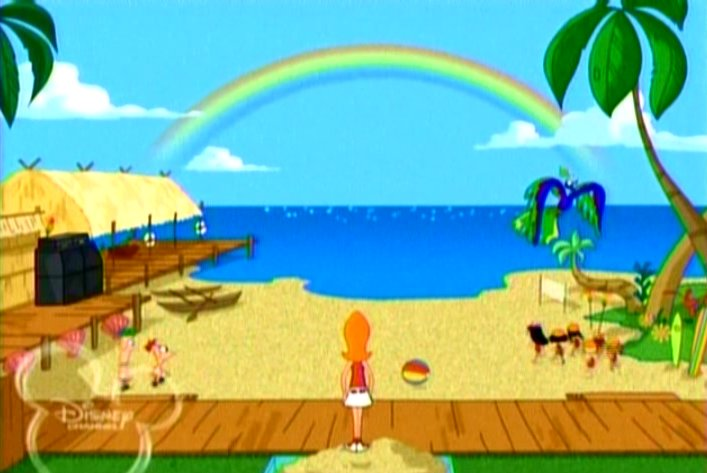 image backyard beach phineas and ferb wiki your