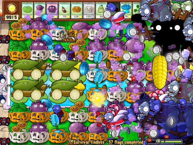 Plants vs zombies survival endless part 3 3d