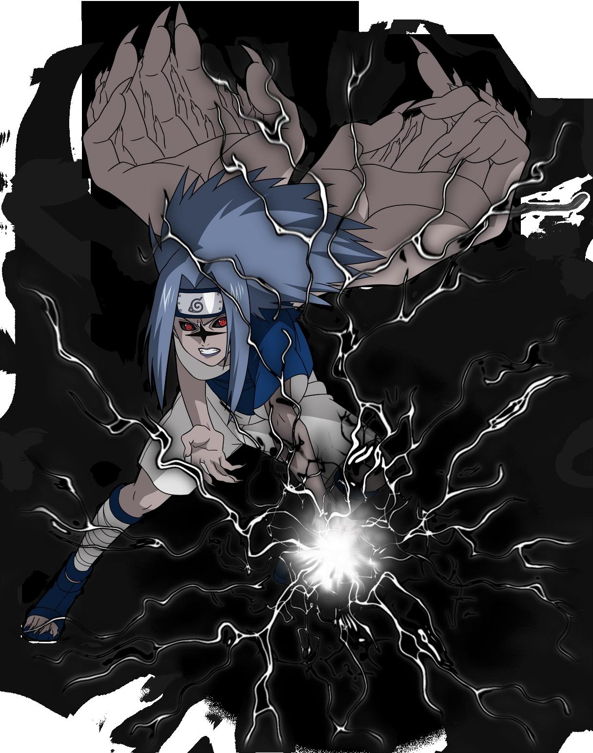 Image - Curse Mark Sasuke Flapping Chidori.png ...