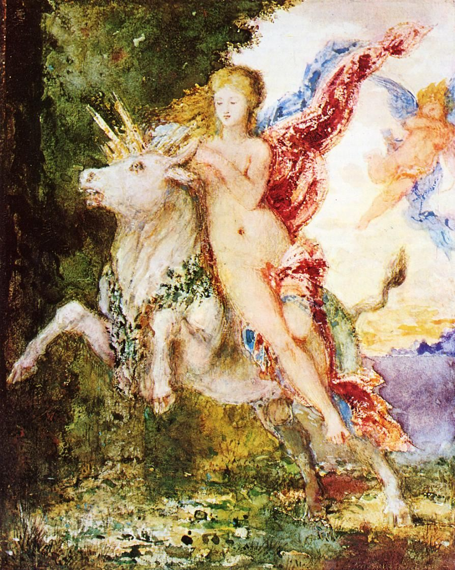 Moreau, Europa and the Bull christina scabbia t nude