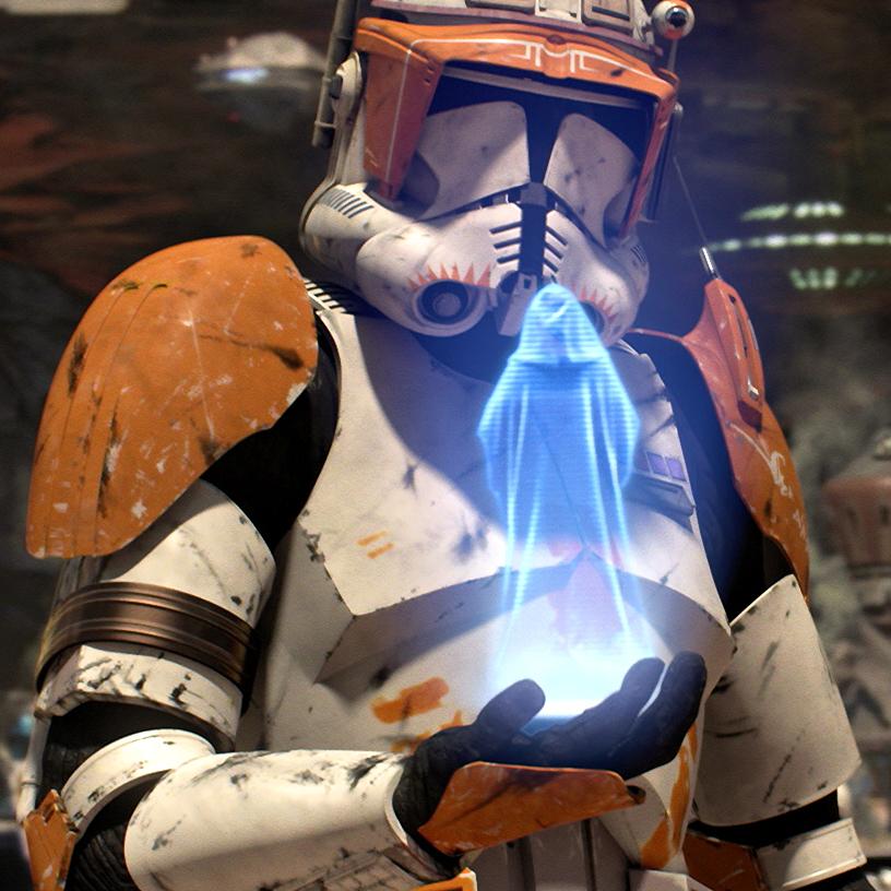 Comandante Cody recebe a mensagem pessoal de Palpatine para executar a Ordem 66
