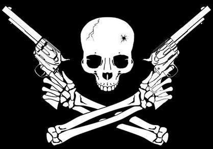 skulls and guns  File:Small skull and crossed