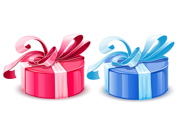 Pink Gift Box Clip Art