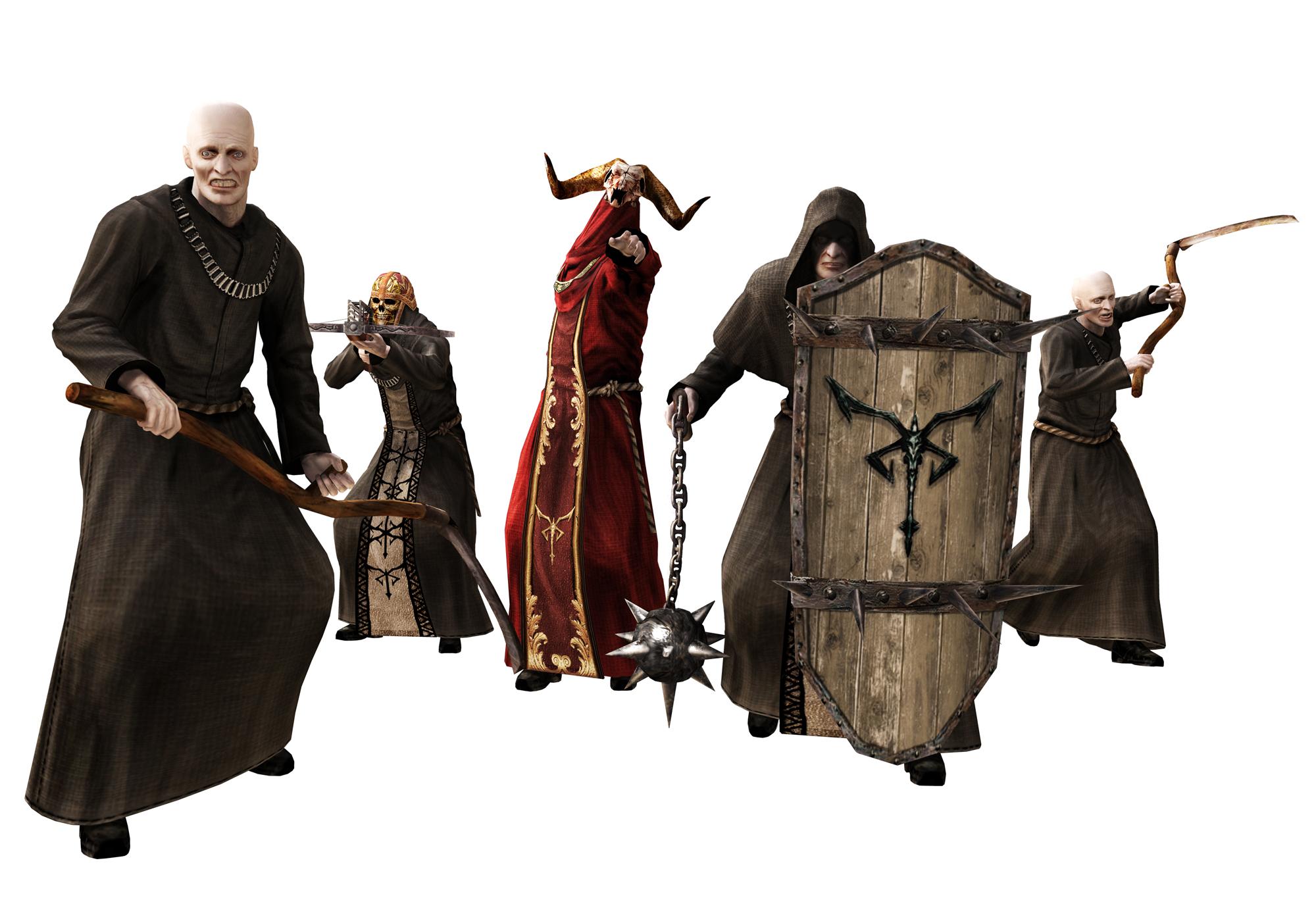 Biohazard 4 (Resident Evil 4) Monks