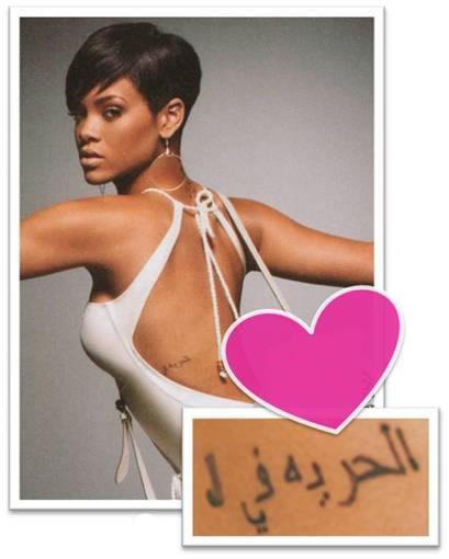 Rihanna's tattoos - Rihanna