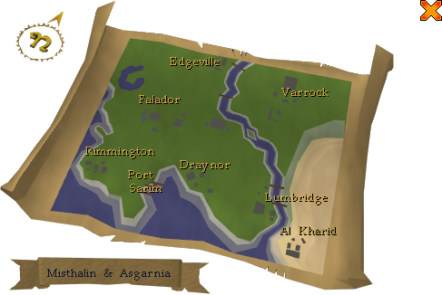 Runescape World Map 2009. RS:MAP