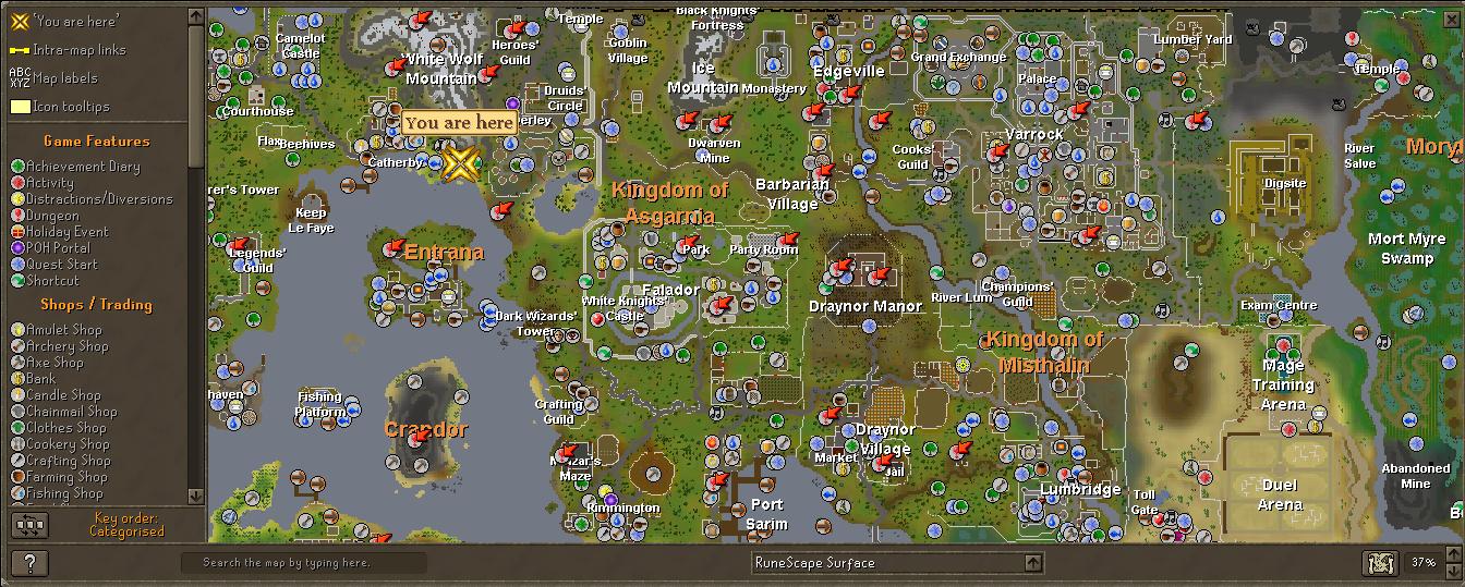 Pin Runescape World Map 3png on Pinterest