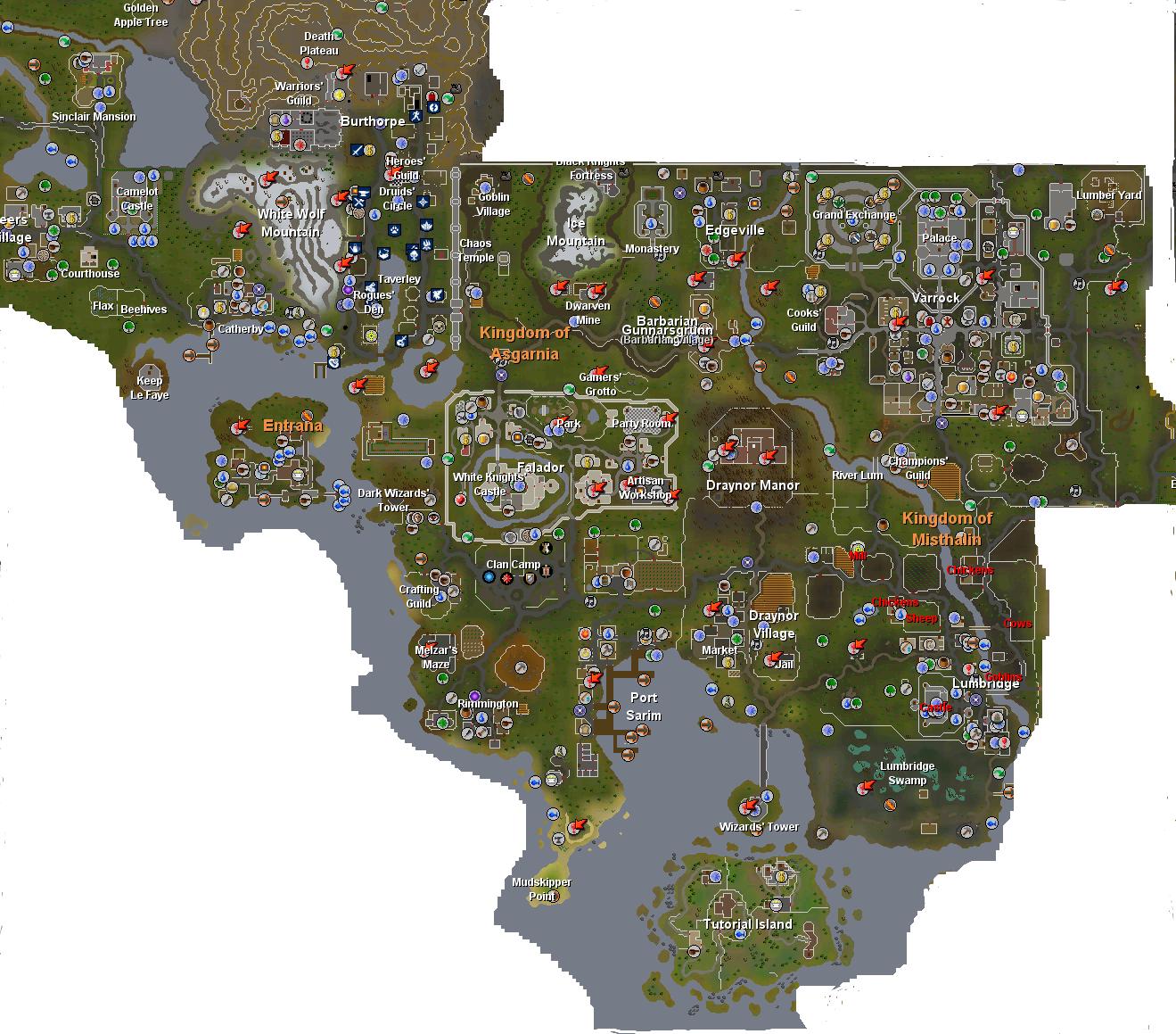 Image RuneScape Worldmap 1 png RuneScape Fan Fiction the place for fan