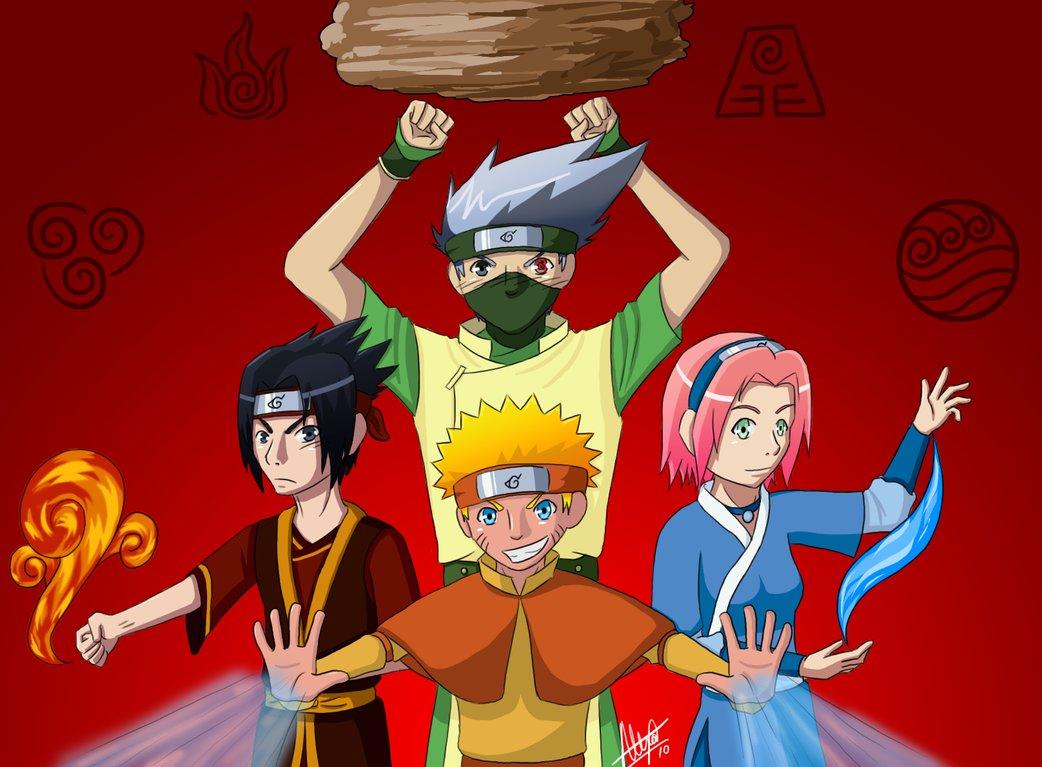 Archivo NARUTO VS AVATAR AANG NARUTO SAKURA KATARA SASUKE KAKASHI TOPH    Naruto Vs Avatar