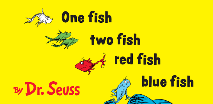 Image one fish two fish red fish blue fish header dr seuss