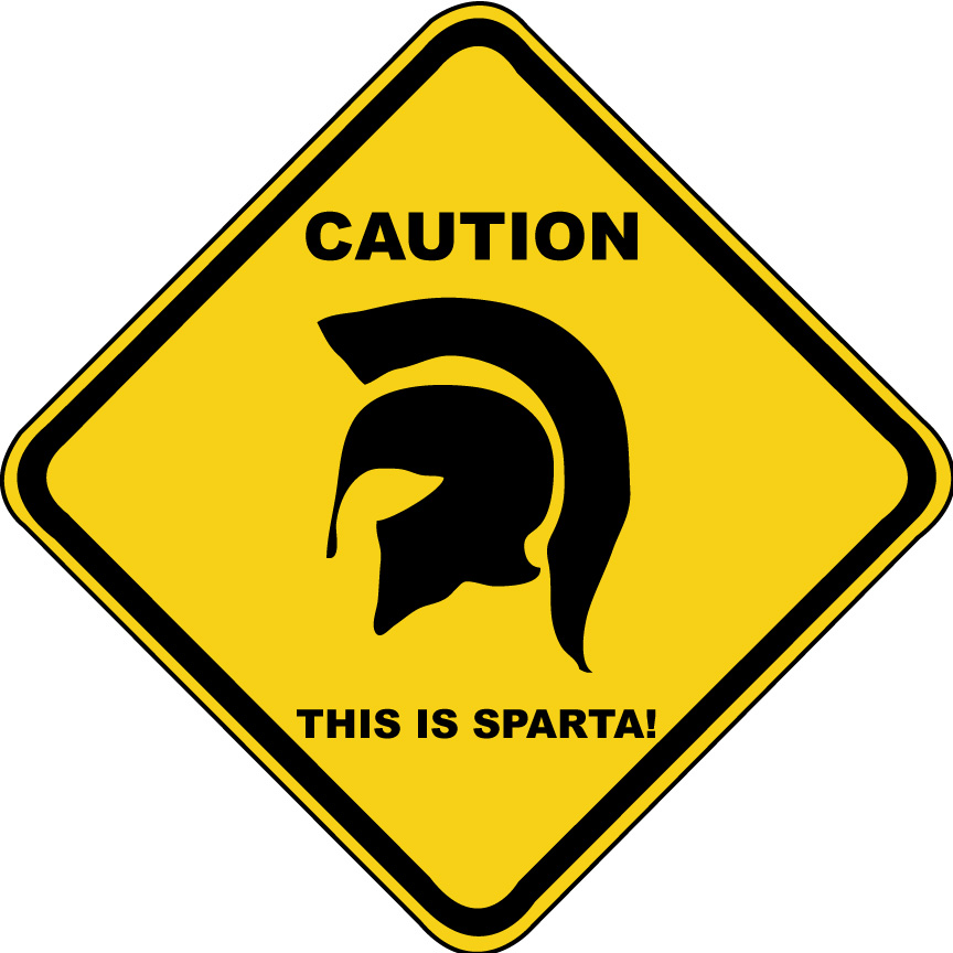 Image - Caution THIS-IS-SPARTA!.jpg - Simpsons Wiki
