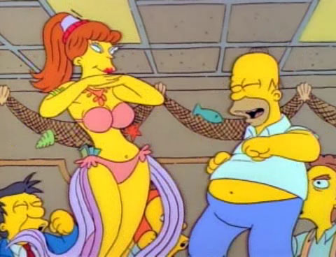 Marge becomes unhappy when her birthday present from Homer is a bowling ball