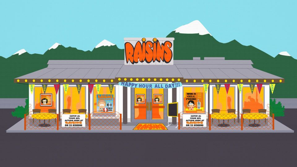 Raisins (Place) - South Park Archives - Cartman, Comedy Central,