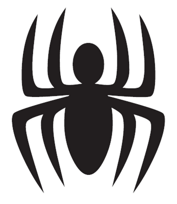 logotipo de spiderman: