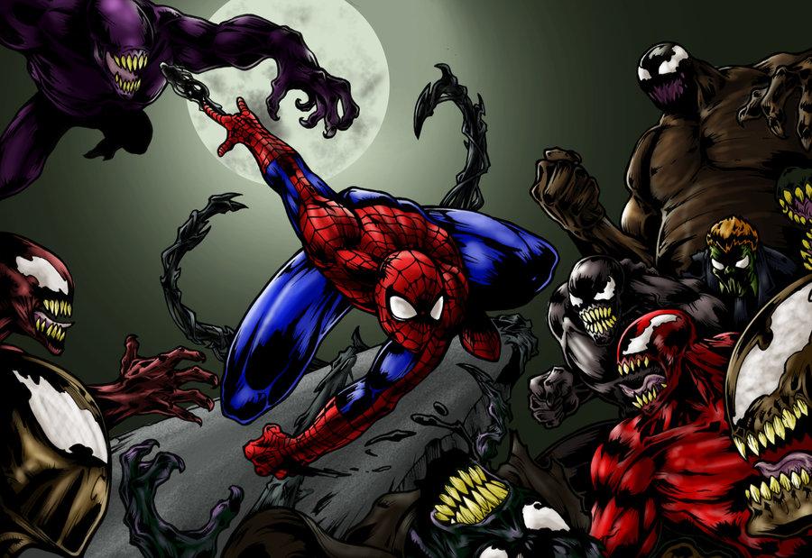 Anti Venom Vs Toxin Spiderman vs venom vs carnage