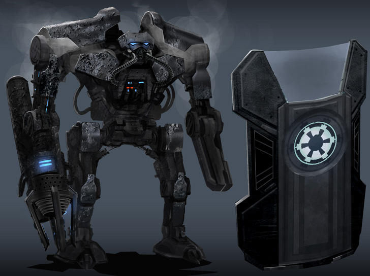 Basilisk War Droid. Images of battle droids