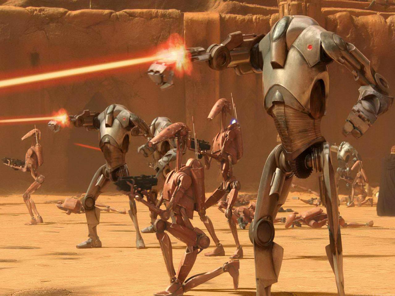 POURQUOI TU VIENS PAS? Parce que j'aime pas! Battle_droids_on_Geonosis